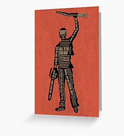 Army Of Darkness Ash Quotes Greeting Card