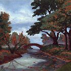 Park in Fall Colors oil painting by Vitaliy Gonikman