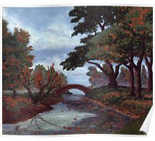 Park in Fall Colors oil painting Poster