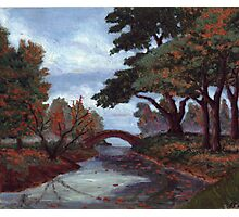 Park in Fall Colors oil painting Photographic Print