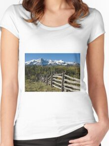 Fence To Nowhere Women's Fitted Scoop T-Shirt