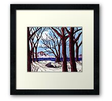 Northern Landscape oil painting  Framed Print