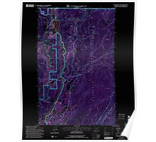 USGS Topo Map Washington State WA Boundary Dam 240169 1992 24000 Inverted Poster