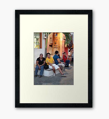 Neighbors - Vecinos Framed Print