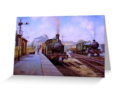 GWR 1474 at the station Greeting Card