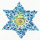 Holiday design - blue star by Regina Valluzzi