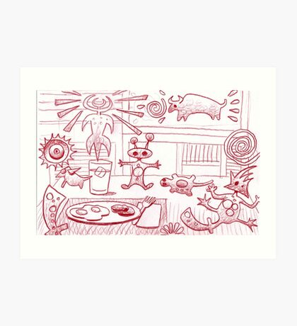 A start to the day. Art Print