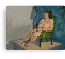 Seated Female Nude Canvas Print