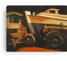 Tilghman Island Crab Boat and Toy Truck Canvas Print