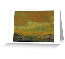Winter Duck Hunting on Eastern Bay in the Chesapeake Bay Greeting Card