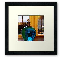 Blue bottle ball Framed Print