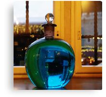 Blue bottle ball Canvas Print