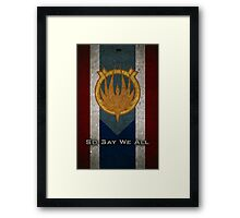 The Flag of Caprica Framed Print