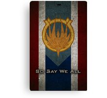 The Flag of Caprica Canvas Print