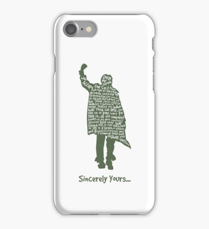 The Breakfast Club - Sincerely Yours iPhone Case/Skin