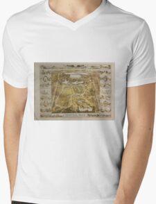 Vintage Central Park NYC Pictorial Map (1863) Mens V-Neck T-Shirt