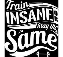 Train Insane Or Stay The Same Gym Fitness Photographic Print