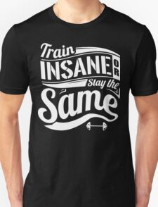 Train Insane Or Stay The Same Gym Fitness T-Shirt