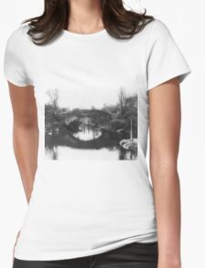 Vintage Photograph of A Central Park Bridge (1915)  Womens Fitted T-Shirt