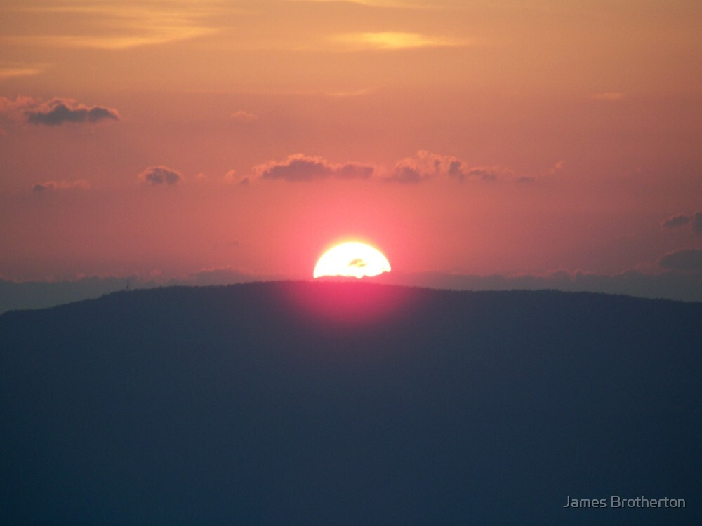 Sunset Over The Mountain by James Brotherton