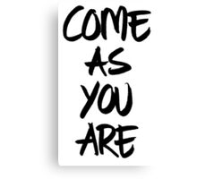 Come as you are, brush - OneMandalaAday Canvas Print