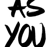 Come as you are, brush - OneMandalaAday Sticker