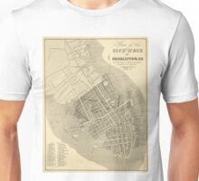 Vintage Map of Charleston South Carolina (1844) Unisex T-Shirt