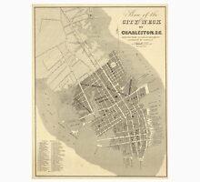 Vintage Map of Charleston South Carolina (1844) Unisex T-Shirt