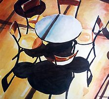 Chairs and shadows by ZlatkoMusicArt