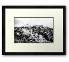 Golm (Alps, Austria) #16 B&W Framed Print