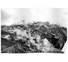 Golm (Alps, Austria) #16 B&W Poster