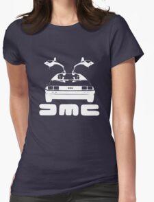 DeLorean DMC NEGATIVE Womens Fitted T-Shirt