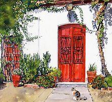 Puertas Rojas - Red Doors by Margaret Merry