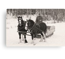 Christmas Sleigh Ride Canvas Print