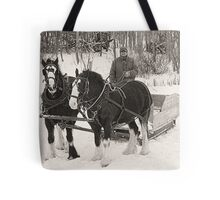 Christmas Sleigh Ride Tote Bag
