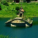 Sunk church in Mavrovo Lake by Kristina R.