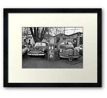 Route 66 - Snow Cap Drive-In Framed Print