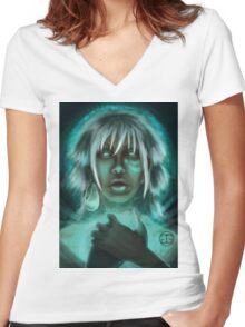 Underwater Mystic Women's Fitted V-Neck T-Shirt