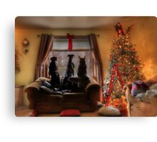 Watching for Santa Canvas Print