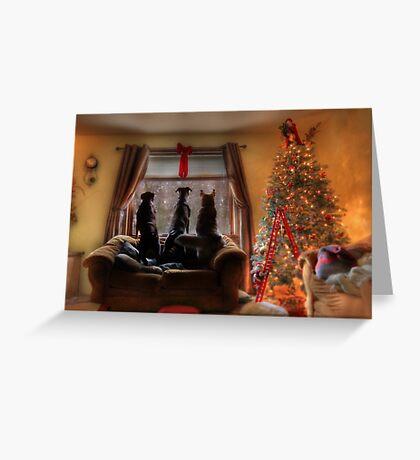 Watching for Santa Greeting Card