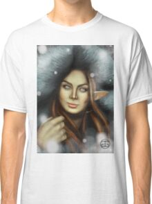 Elven Lady of Winter Classic T-Shirt