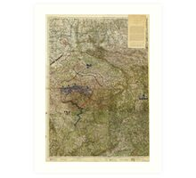 Map of the Ruhr Uprising March-April 1920 Art Print
