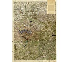 Map of the Ruhr Uprising March-April 1920 Photographic Print