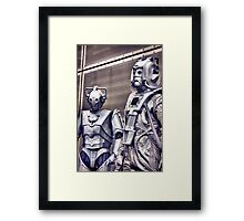 Cybermen - old and new Framed Print