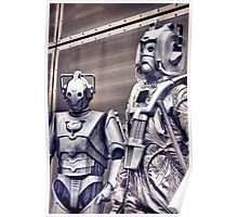 Cybermen - old and new Poster