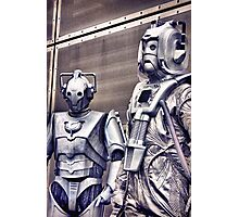 Cybermen - old and new Photographic Print