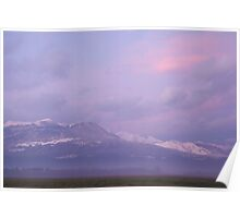 Krvavec and the Kamnik Alps at sunset Poster