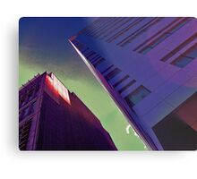 Night time in the city Metal Print