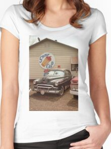 Route 66 Classic Car Women's Fitted Scoop T-Shirt