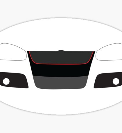 MK5 simple headlight and grill design Sticker